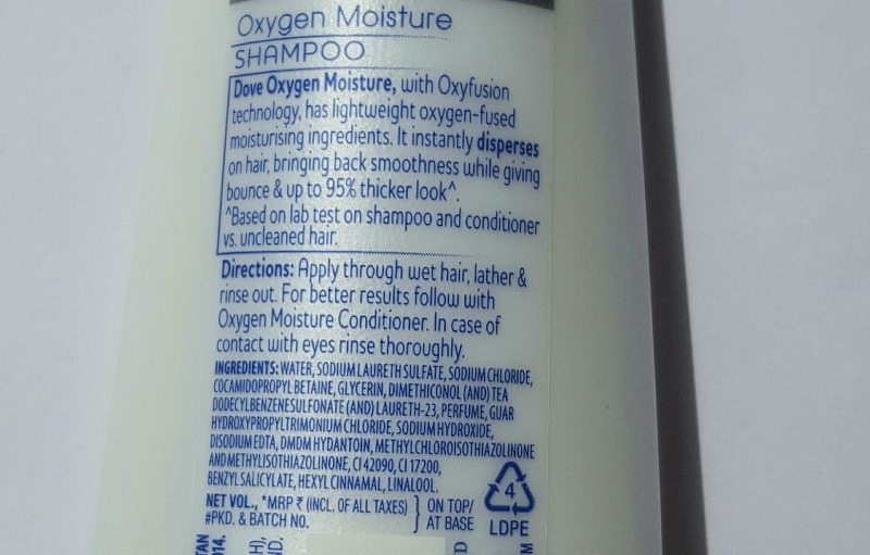 Dove Nutritive Solutions Oxygen Moisture Shampoo and Conditioner Review 3