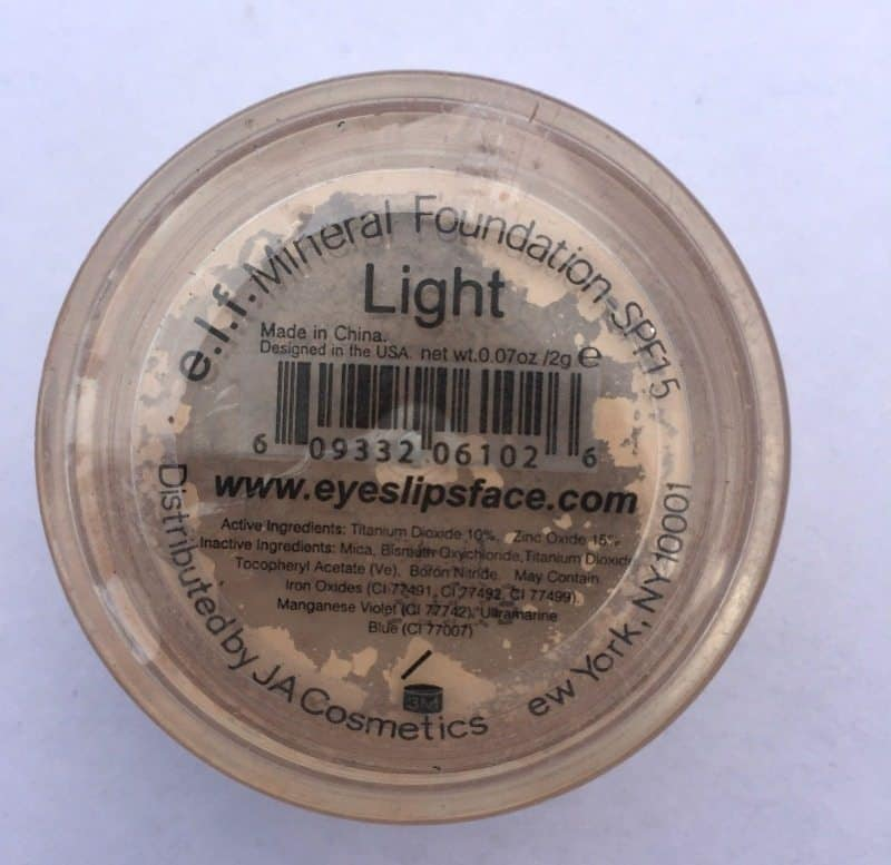 Elf Mineral Foundation Powder SPF 15 Review 1