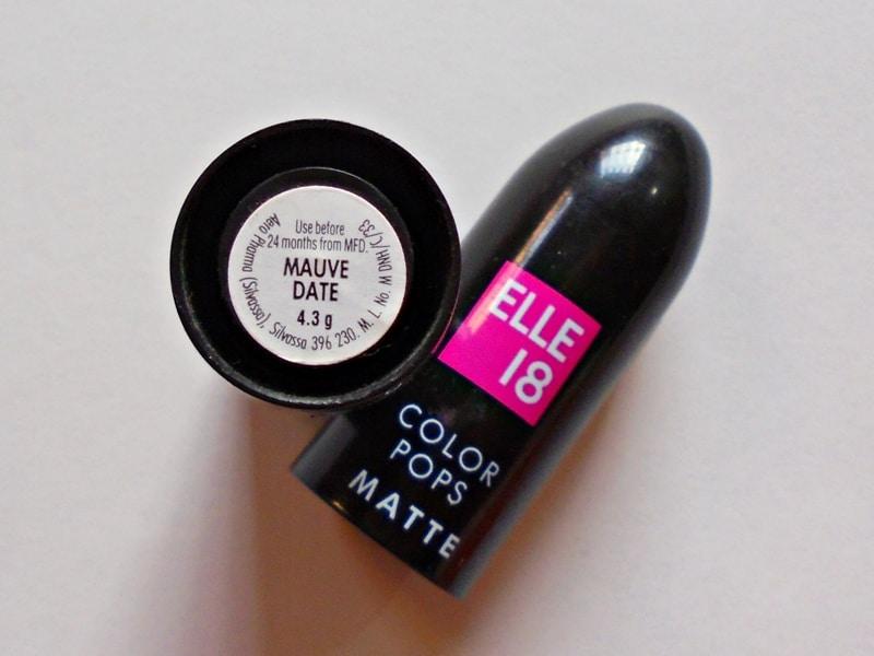 Elle 18 Color Pops Matte Lipstick Mauve Date Review