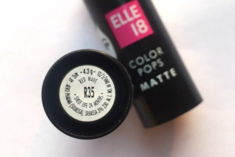 Elle 18 Lipstick Red Wave 1