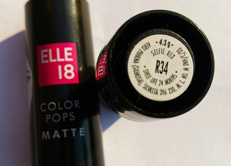 Elle18 Color Pop Matte Lipstick Selfie Red (R34) 2