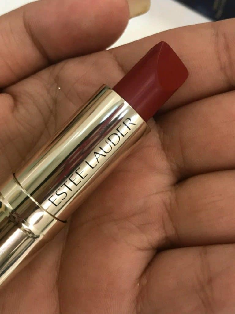 Estee Lauder Pure Color Love Lipstick Burning Love 320 Review 2