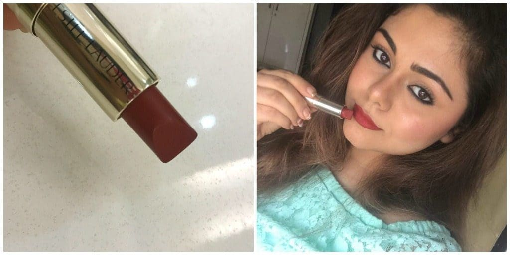 Estee Lauder Pure Color Love Lipstick Burning Love 320 Review 4