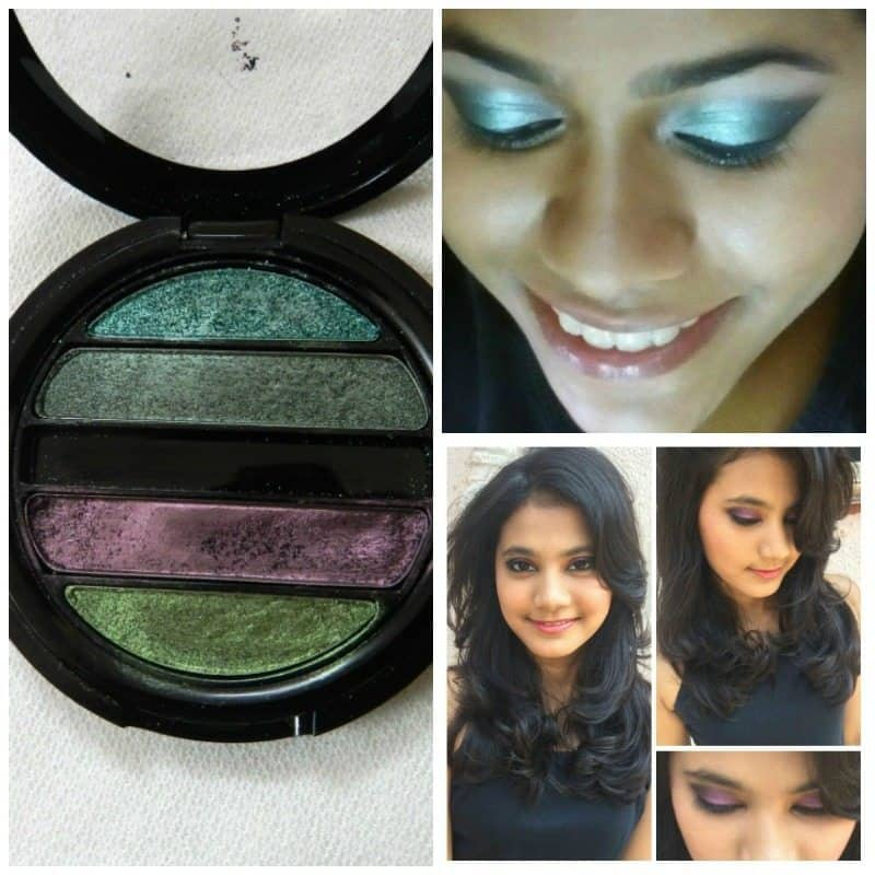 Faces I shine Green Quartet Eye Shadow Review 6