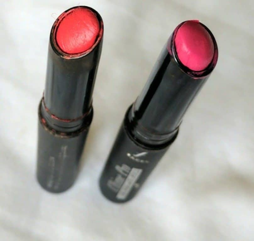 Faces Ultime Pro Longwear Matte Lipstick Red Addict and Read My Lips Review and Swatches