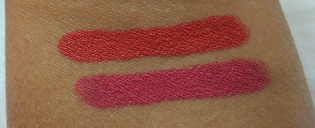 Faces Ultime Pro Longwear Matte Lipstick Red Addict and Read My Lips Review and Swatches 2