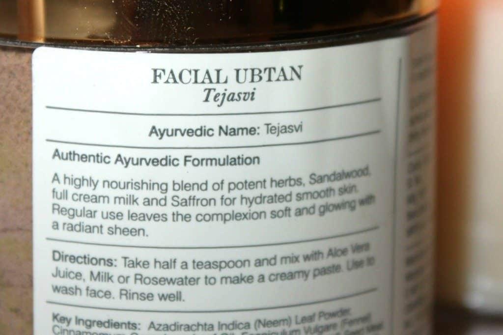 Forest Essentials Facial Ubtan Tejasvi Milk Review 1