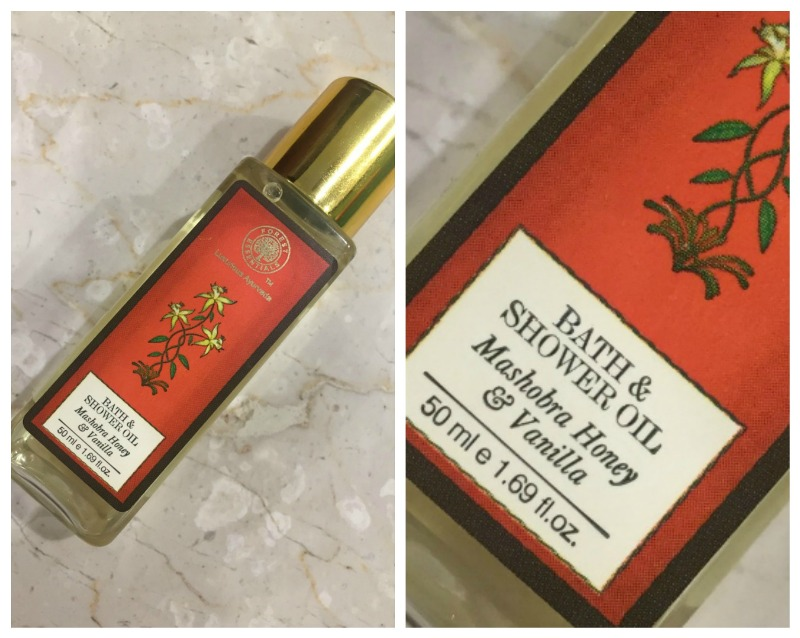 Forest Essentials Honey and Vanilla Moisture Replenishing Bath and Shower Oil