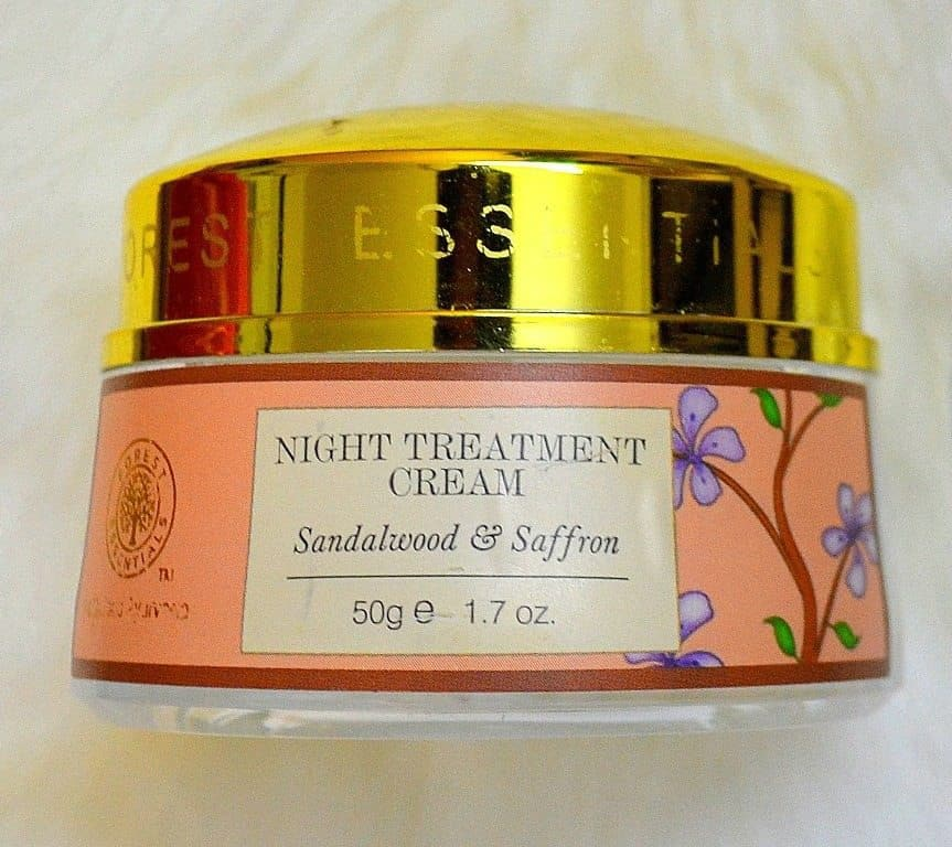 Forest Essentials Night Treatment Cream Sandalwood and Saffron Review 1