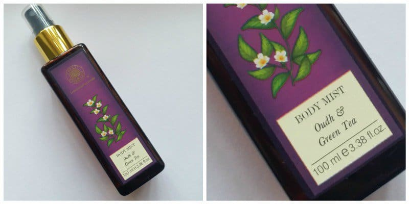 Forest Essentials Oudh and Green Tea Body Mist