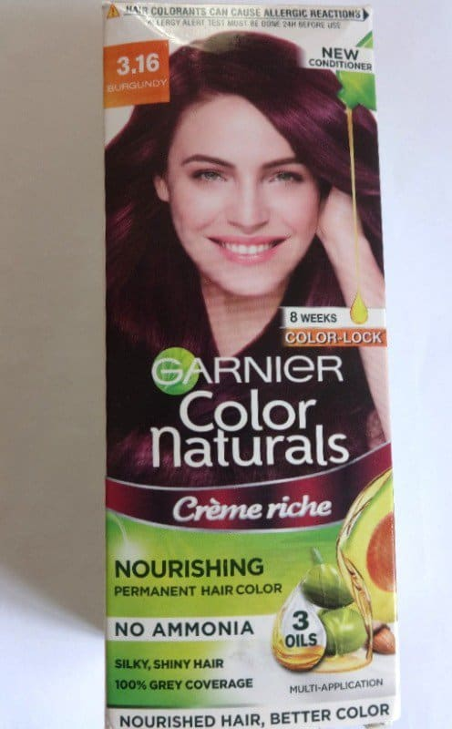Garnier Color Naturals Burgundy 316 Review Application