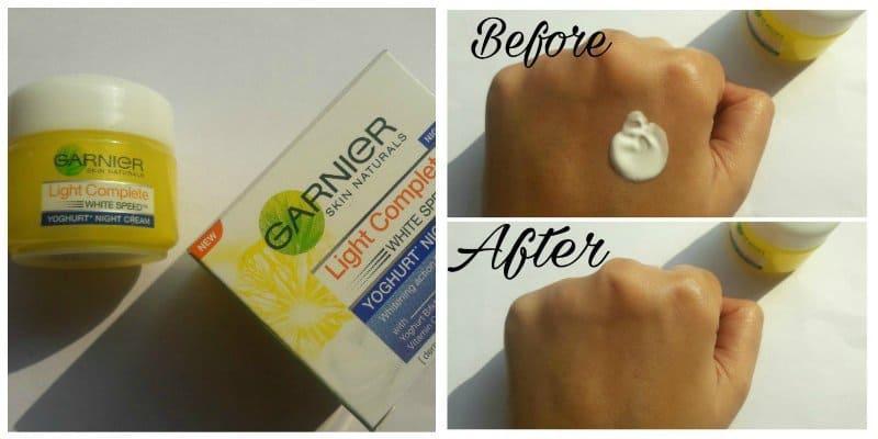 Garnier Light Complete Yoghurt Night Cream