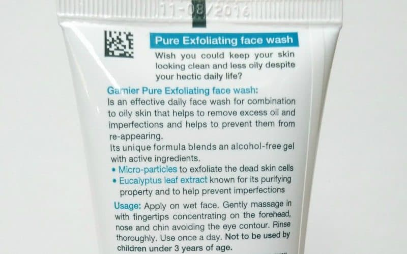 Garnier Pure Exfoliating Face Wash with Eucalyptus Leaf Extract Review