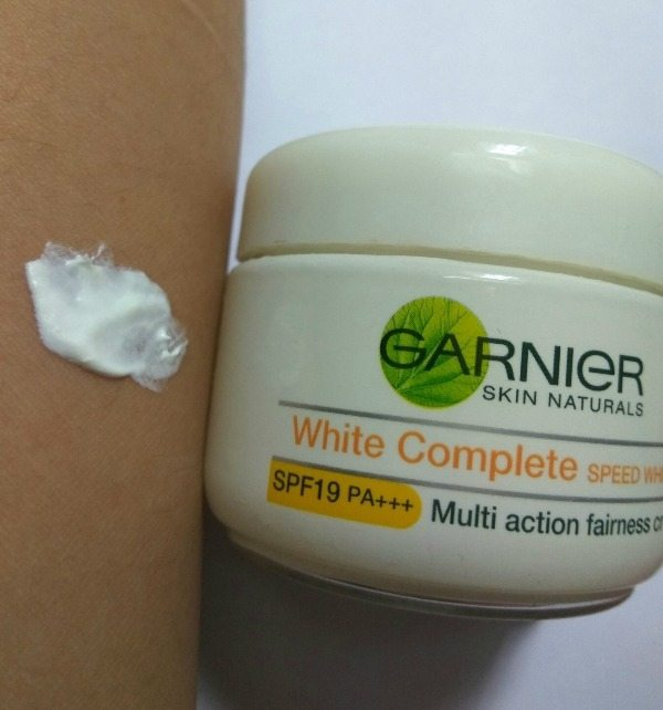 Garnier White Complete Fairness Cream Speed White (Spf 19 Pa+++) Review 3