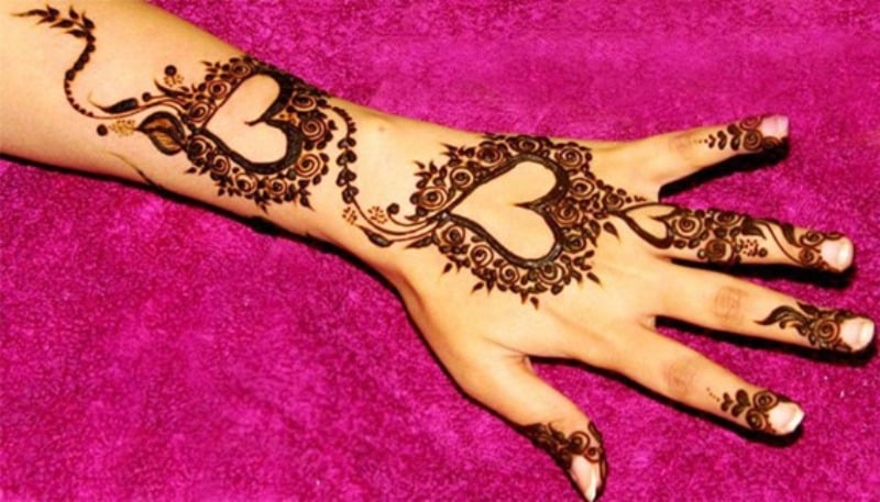 Henna Designs – Choose your Love Mehendi Design with Hearts 3