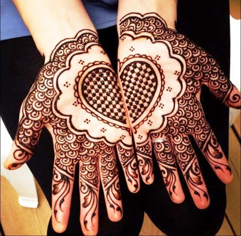 Henna Designs – Choose your Love Mehendi Design with Hearts 5