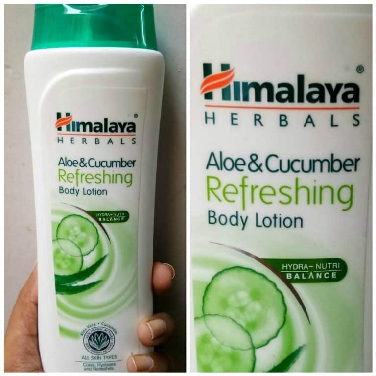 Himalaya Herbals Aloe and Cucumber Refreshing Body Lotion 4