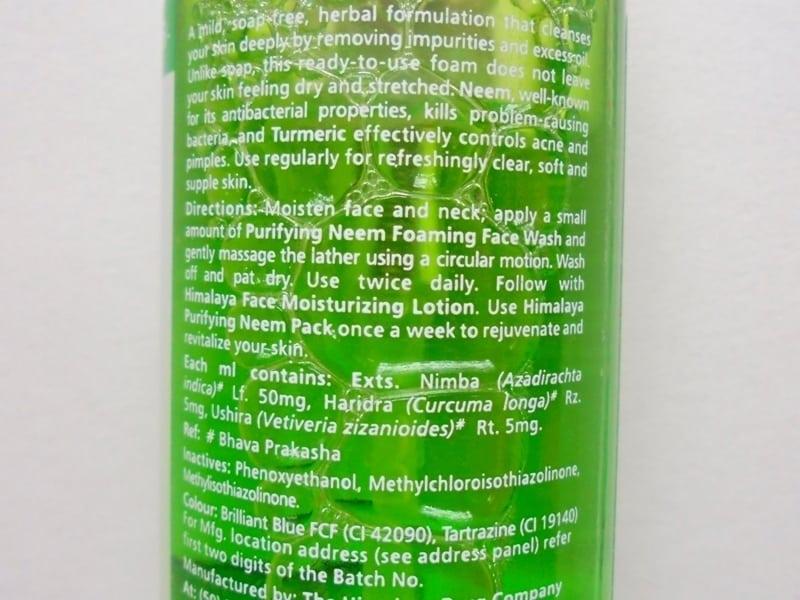 Himalaya Herbals Neem Foaming Face Wash Review 1