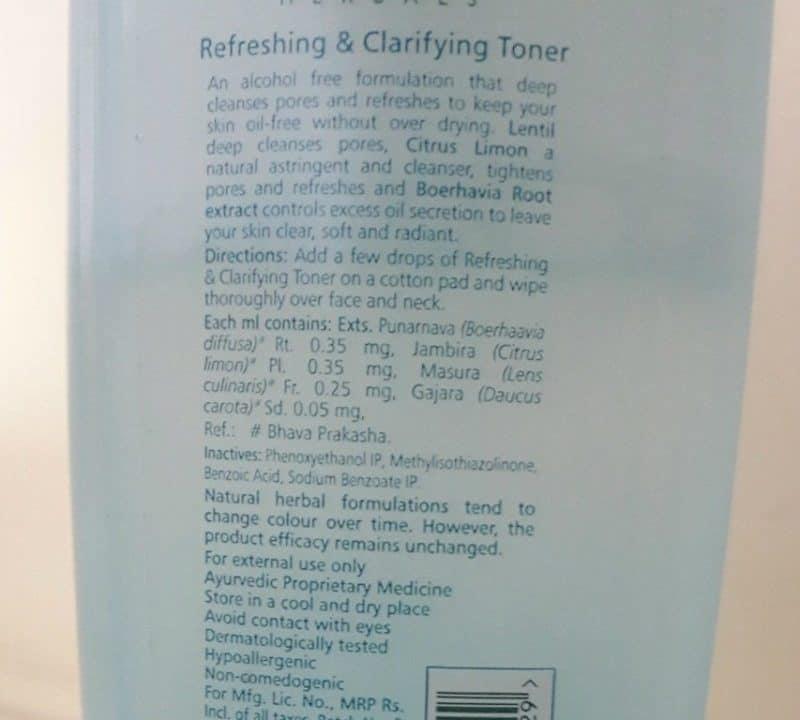 Himalaya Refreshing and Clarifying Toner Review 4