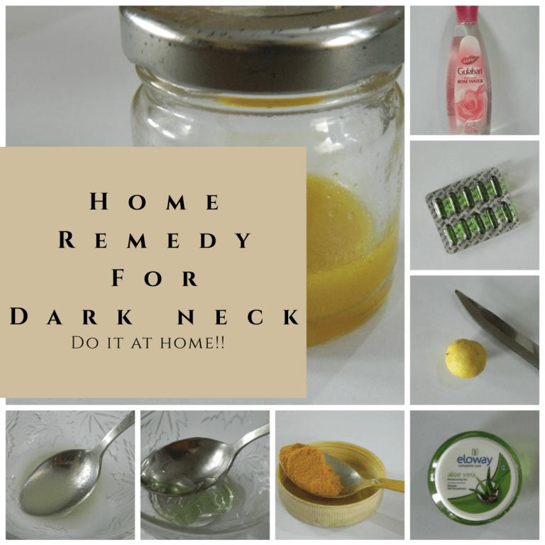 Home Remedy for Dark Neck