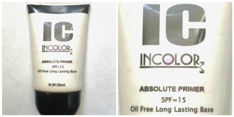 Incolor Absolute Primer With SPF 15 Review 3