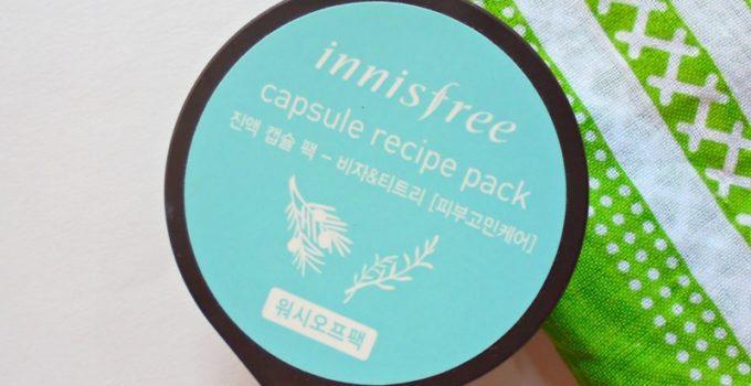 Innisfree Capsule Recipe Pack Bija & Tea Tree Review