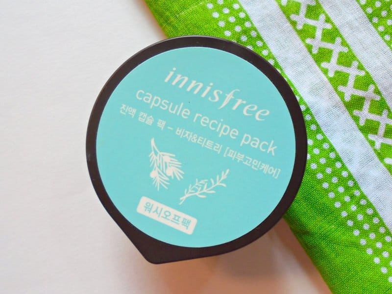 Innisfree Capsule Recipe Pack Bija & Tea Tree Review