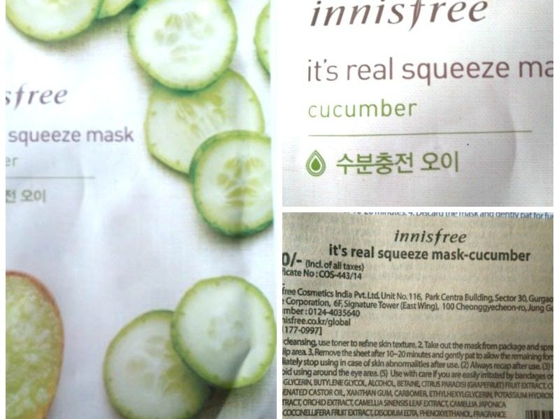 Innisfree Cucumber Squeeze Mask Review 3
