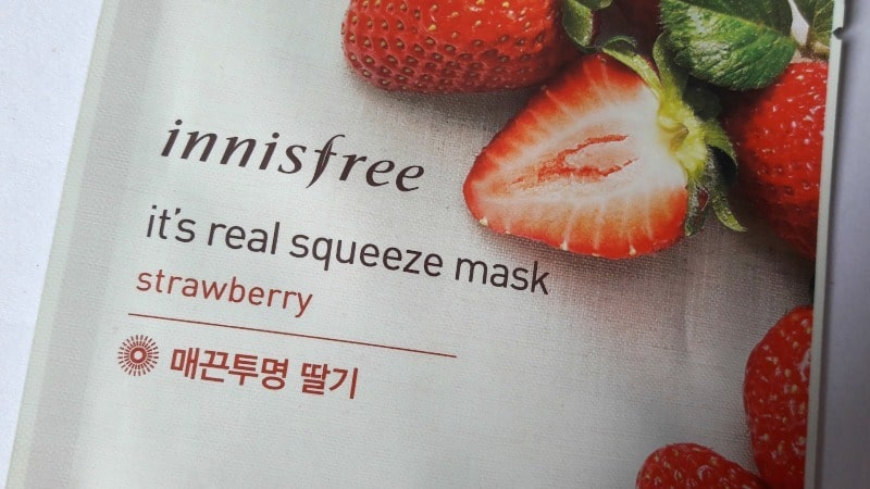 Innisfree It's Real Squeeze Mask Strawberry 1