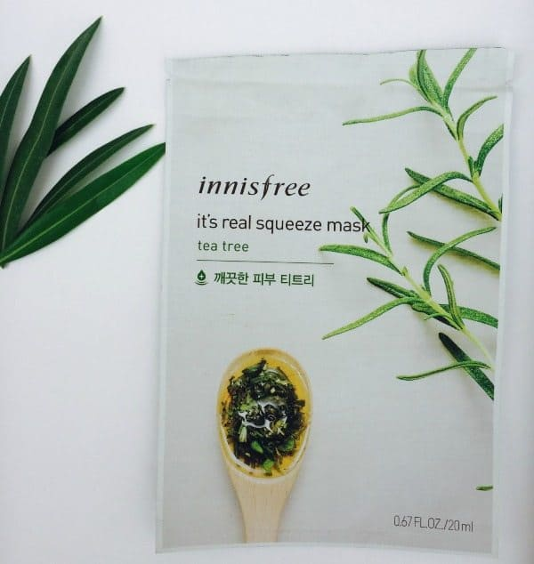 Innisfree its Real Squeeze Mask Tea Tree