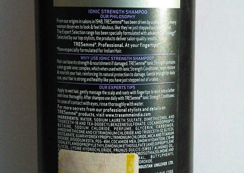Ionic Strength Tresemme Shampoo 1