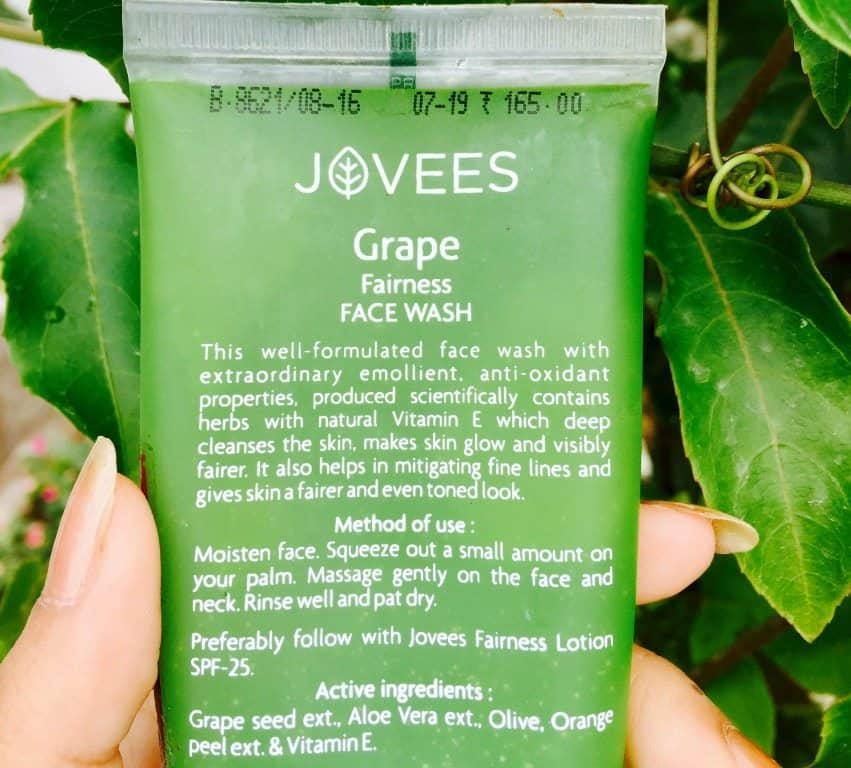 Jovees Grape Fairness Facewash Review 1