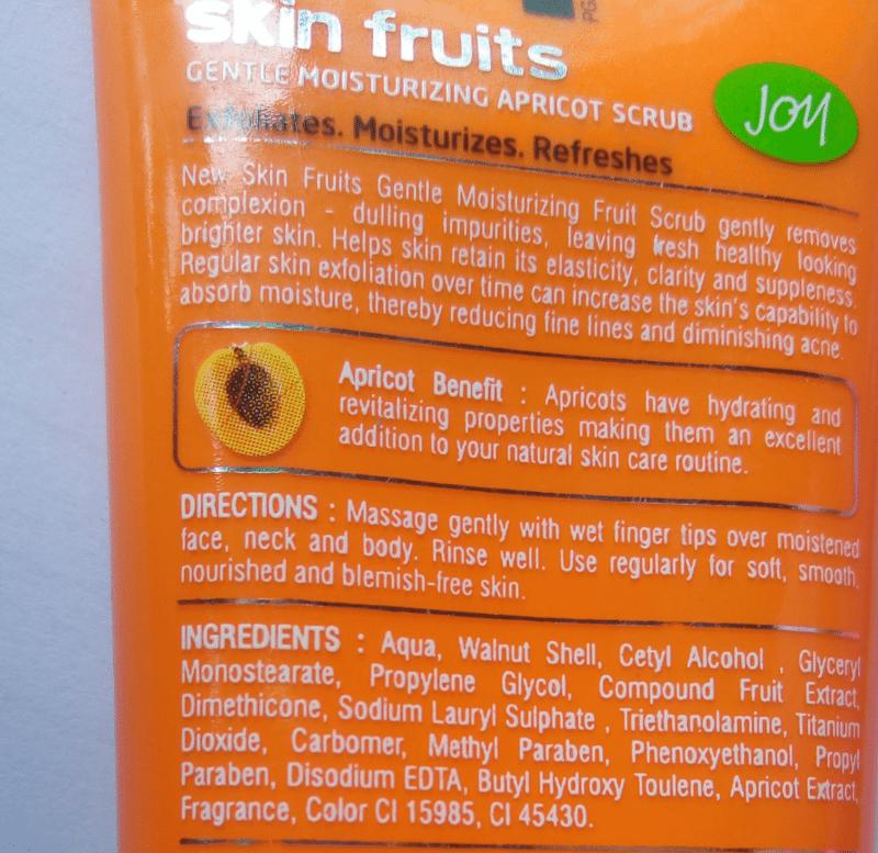 Joy Skin Fruits Gentle Moisturising Apricot Scrub 1