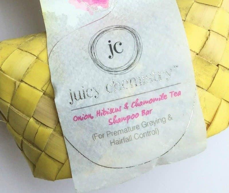 Juicy Chemistry Onion Hibiscus Chamomile Tea Shampoo Bar