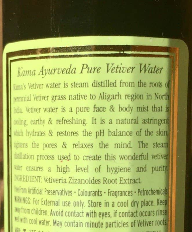 Kama Ayurveda Vetiver Water to Refresh 1