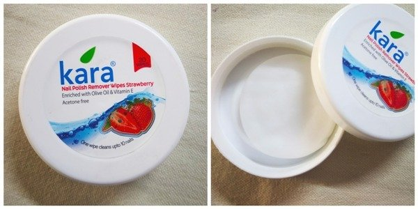 Kara Nail Polish Remover Wipes Strawberry