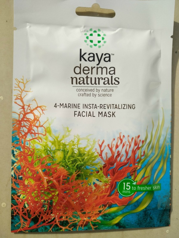 Kaya Derma Naturals 4 Marine Insta-Revitalizing Facial Mask Review
