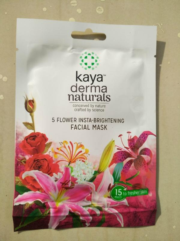 Kaya Derma Naturals Sheet Mask 5 Flower Insta-Brightening Facial Mask