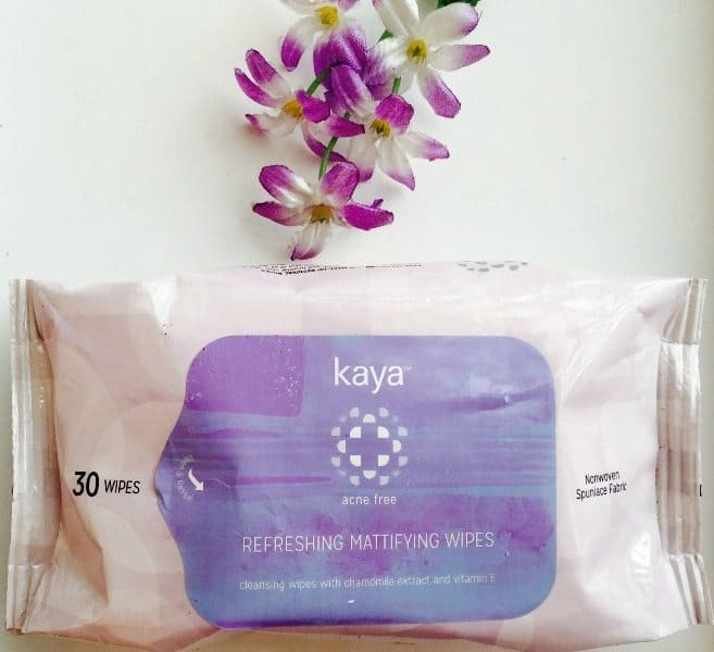 Kaya Refreshing Mattifying Wipes