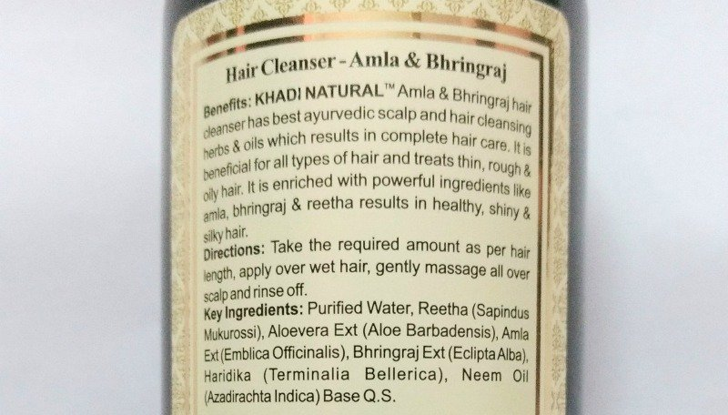 Khadi Amla And Bhringraj Hair Cleanser 2
