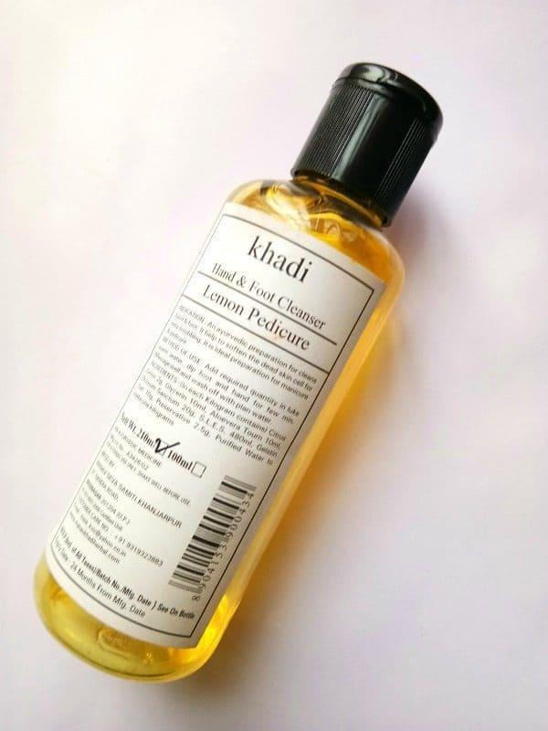 Khadi Hand & Foot Cleanser Lemon Pedicure Review 1