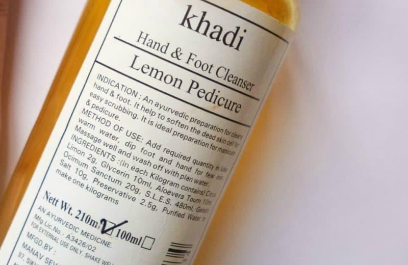 Khadi Hand & Foot Cleanser Lemon Pedicure Review 3
