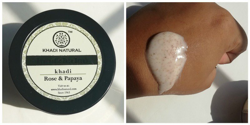 Khadi Natural Face Scrub Rose and Papaya