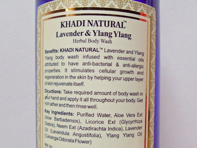 Khadi Natural Lavender & Ylang Ylang Herbal Body Wash Review 2