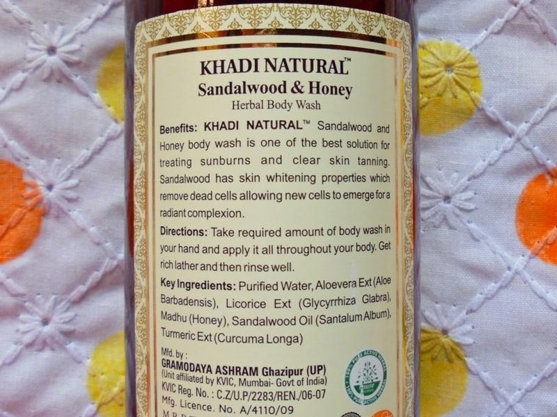 Khadi Natural Sandalwood & Honey Body Wash Review 1