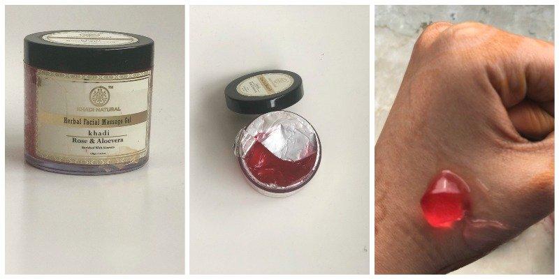 Khadi Rose and Aloevera Herbal Facial Massage Gel