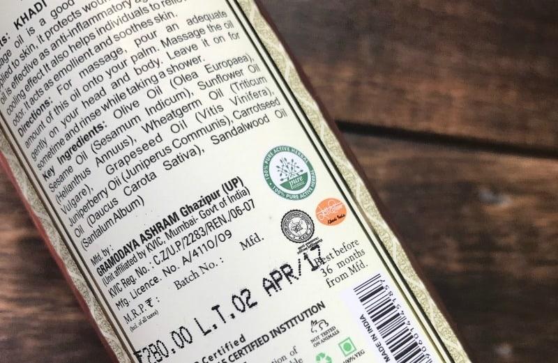 Khadi Sandalwood Massage Oil- Without Mineral Oil 2