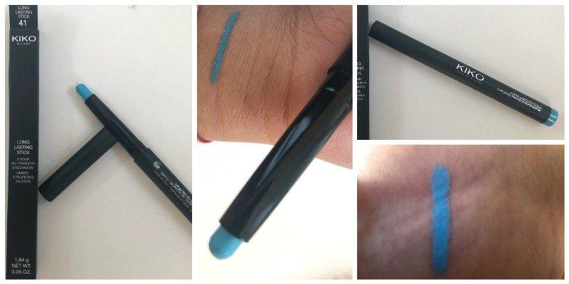 Kiko Long Lasting Stick Eyeshadow Lagoon Blu Review