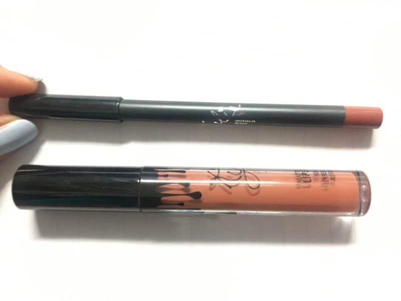 Kylie Ginger Matte Liquid Lipstick and Lip Liner Review  9