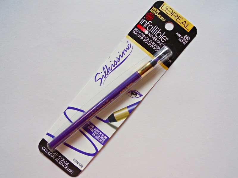 L'Oreal Infallible Silkissime Silky Pencil Eyeliner 240 Pure Purple Review